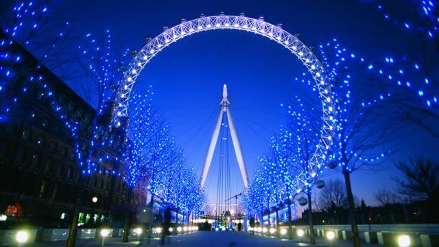 London Eye at night...
