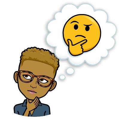 thinking bitmoji