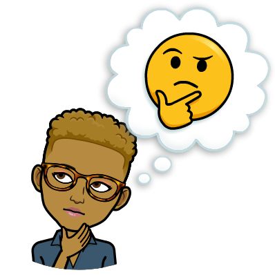 thinking bitmoji